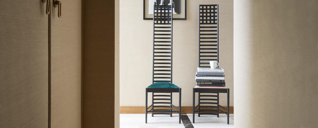 Silla Hillhouse de Charles Mackintosh para Cassina