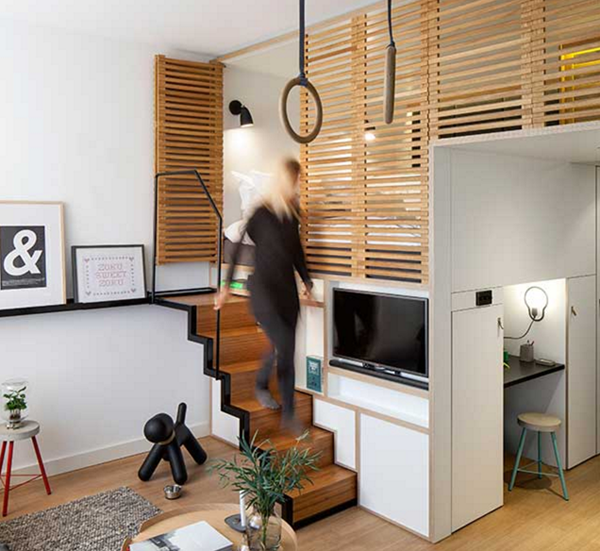 Escaleras para espacios peque os for Soluciones apartamentos pequenos