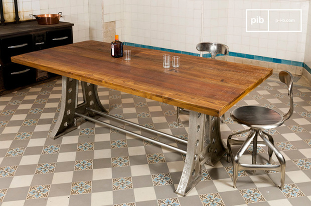 Mesas de comedor de madera de estilo vintage for Mesas de comedor rectangulares de madera