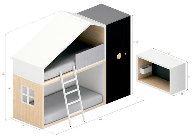 Dormitorio Infantil Con Forma De Casita Cottage