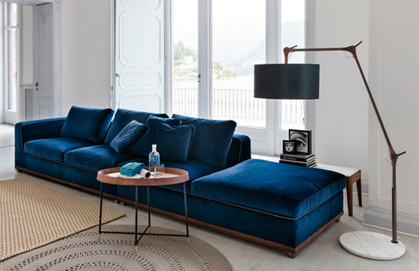 6 sof s de dise o italiano - Sofa terciopelo azul ...