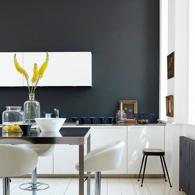 C mo pintar las paredes de gris - Muebles color cerezo como pintar paredes ...