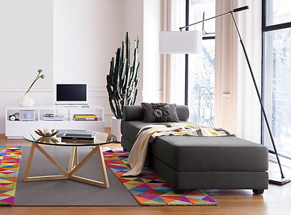 Salones decorados de diferentes estilos - Chaise longue pequeno ...