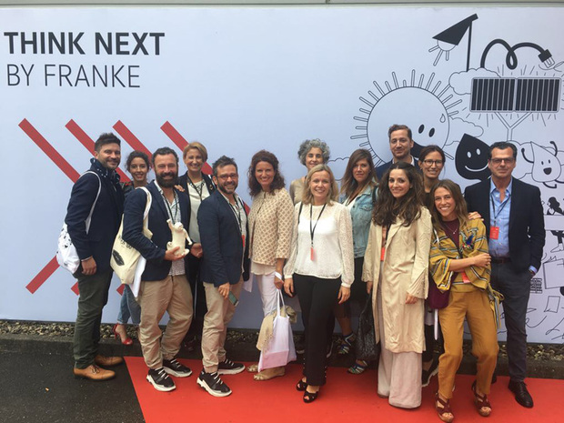 Comitiva española en Think Next by Franke