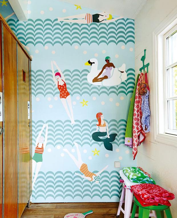 12 papeles pintados para el baño