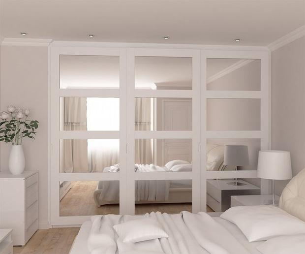 Puertas de armario de distintos estilos - Armarios lacados en blanco ...