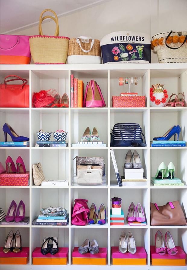 C mo organizar bolsos y zapatos - Ideas para decorar zapatos de nina ...
