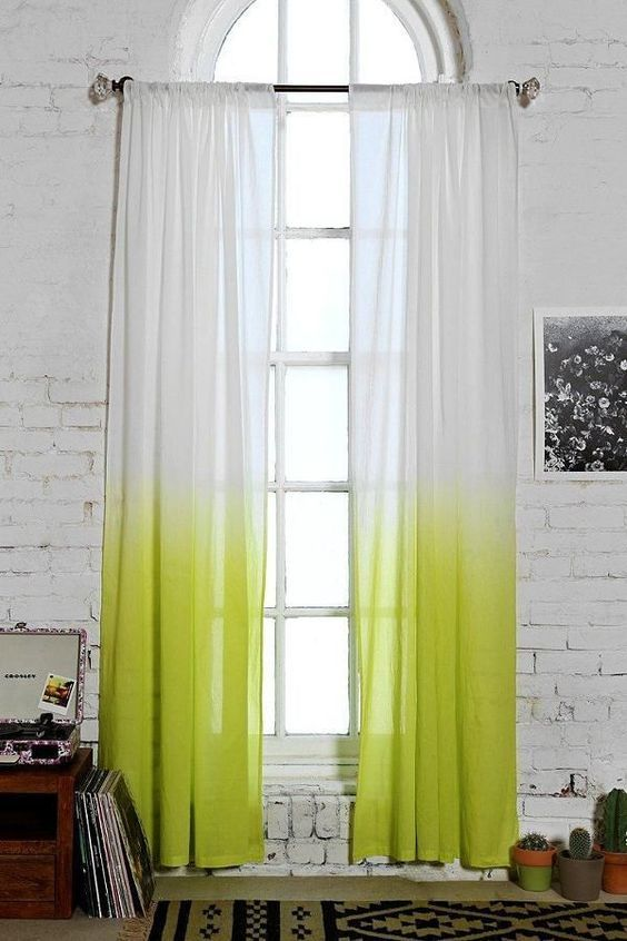 Cortinas con efecto degradado