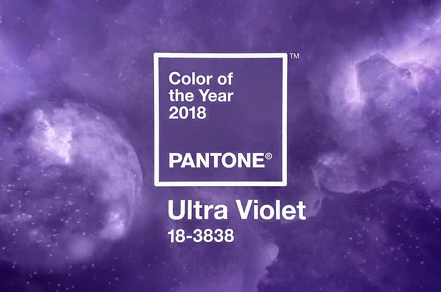 Ultra violer, color Pantone 2018