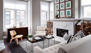 Ideas para decorar un salón-comedor con chimenea