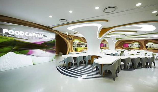 Amoje food capital el restaurante de comida r pida de karim rashid for Capital home staging and design