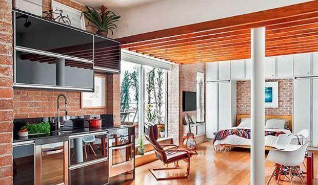 Apartamento de 45 metros reformado para una casa c moda for Cocinas pequenas para apartamentos tipo estudio