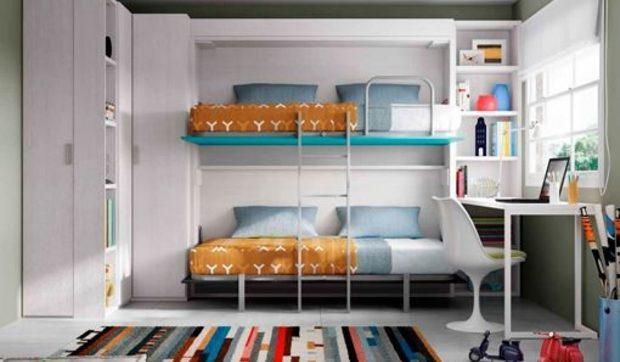 Camas y literas plegables para habitaciones juveniles - Habitaciones con literas juveniles ...