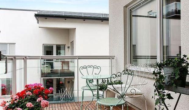 Una casa de 80 metros cuadrados con dos terrazas for Decoracion de casas de 65 metros cuadrados