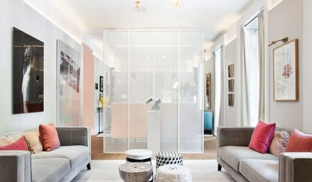 Sal n con dos ambientes - Adornos para salon de casa ...