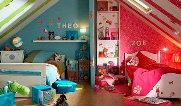 Cómo decorar habitaciones infantiles compartidas por niña y niño