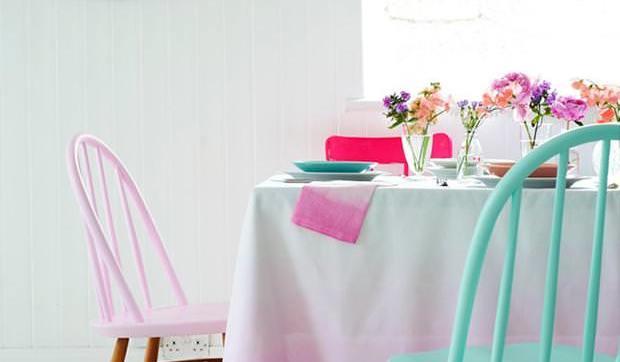 Decorar sillas en tonos pastel y neon - Como tapizar una descalzadora ...