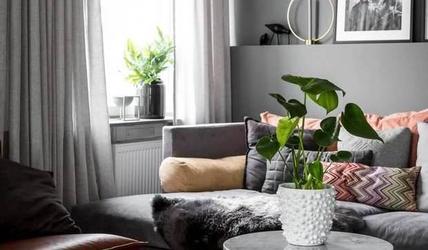 Decorar en tonos grises - Salones pintados en gris ...