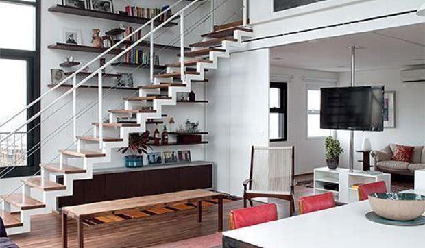 Dúplex con terraza de estética loft