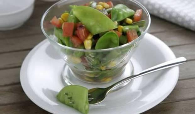 Ensalada tibia de verduritas en 10 minutos