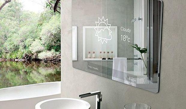 Espejo para cuartos de ba o futuristas dise ado por robert for Espejos cuarto de bano