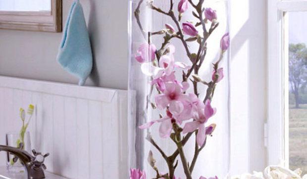 Jarrones de cristal con flores sumergidas - Decoracion de jarrones de cristal ...