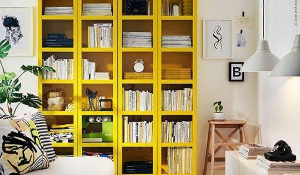 La librería Billy de Ikea en colores block