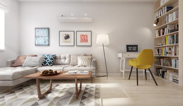 Piso de 60 metros para una pareja for Decoracion apartamentos pequenos modernos 2017