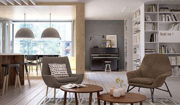 Sal n comedor y cocina integrados en un solo espacio for Cocina y salon integrados pequenos