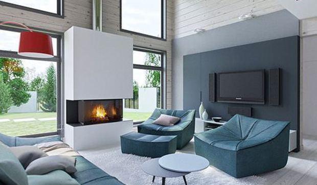 Sal n comedor y cocina integrados en un espacio de doble for Decoracion de interiores monterrey