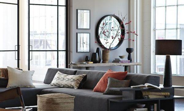 Sofás en medio del salón o en esquina, cuestión de gusto y de espacio