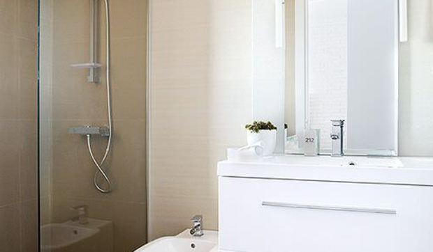 Un ba o peque o con ducha for Cuartos de bano pequenos con ducha