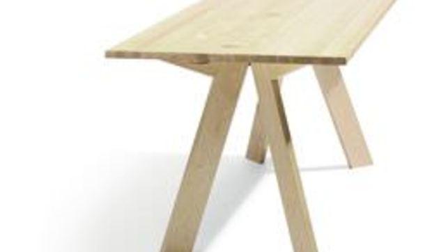 Una mesa que se convierte en consola