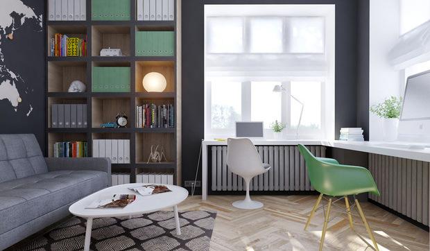 Escritorios y zonas de trabajo en casa - Habitaciones de estudio ...